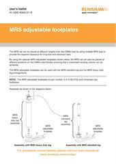 User's leaflet: MRS adjustable footplates