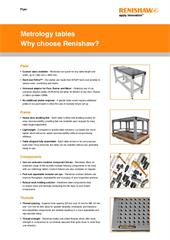 Flyer:  Metrology tables - Why choose Renishaw?