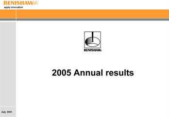 Presentation: June 2005 annual results