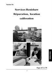 Services Renishaw réparation, location calibration