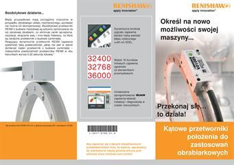 Ulotka reklamowa: Katowe przetworniki połozenia do zastosowan obrabiarkowych