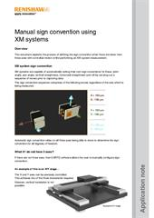 Application note:  Manual sign convention using XM systems