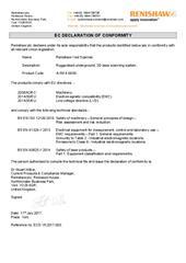 Certificate (CE): Renishaw Void Scanner ECD-YK2017-003A