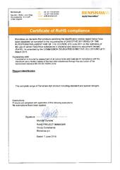Certificate (RoHS):  RoHS Statement Styli products