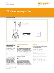 Data sheet:  TS34 tool setting probe