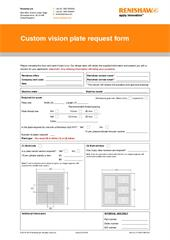 Form:  Custom vision plate request form