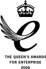 Queen's Award for Enterprise 2009 (black)