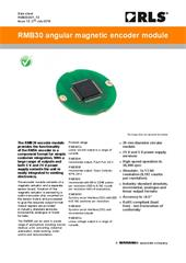 Data sheet:  RMB30 rotary magnetic encoder module