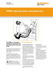 Data sheet:  HPMA high precision motorised arm
