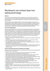 White paper:  TE511 - Renishaw's non-contact laser tool setting technology