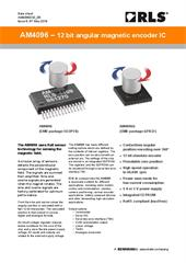 Data sheet:  AM4096 rotary magnetic encoder IC