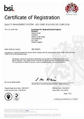 Certificate: Medical Dental Products Division MD540970