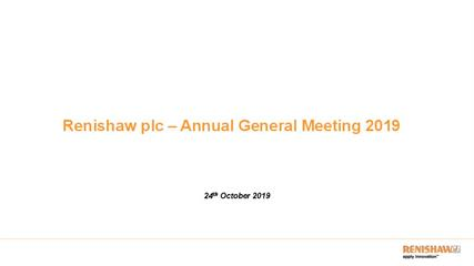 Presentation:  Annual General Meeting 2019