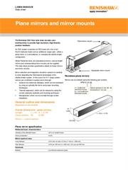 Data sheet: Plane mirrors and mirror mounts