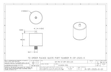 Technical drawing:  R-SP-2525-6