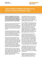 News release:  Latest position feedback encoders to be shown at Korean automation show