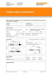 Form:  Custom stylus request form