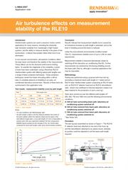 Application note: Air turbulence effects on measurement stability of the RLE10