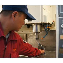 ASMPT's production staff regularly calibrate their machine tools