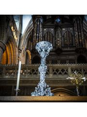 3D printed replica candlestick at Gloucester Cathedral