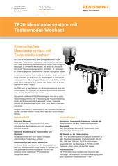 Produktflyer: TP20 Messtastersystem mit Tastermodul-Wechsel