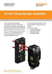 Installation guide:  15 mm DI periscope assembly