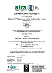 Certificate: RESOLUTE™ FS (functional safety)