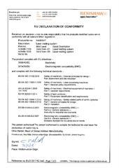Certificate (CE):  AM400HT Laser melting system ECD2017-62.pdf