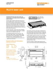 Data sheet: RLU10 laser unit