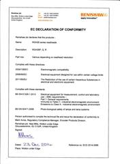 Declaration of conformity:  RGH26 ECD2014-0086
