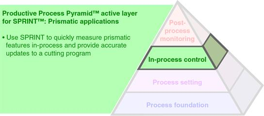 Productive Process Pyramid™ in-process control for SPRINT™: Prismatic