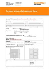 Custom vision plate request form
