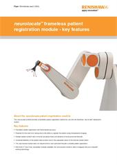 Flyer:  neurolocate frameless patient registration module - key features (worldwide, excl. USA)