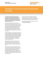 Press release: Renishaw to host free process improvement seminars