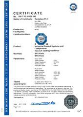Certificate (TUV): 5/01 and 5/04 vacuum casting machine