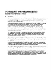 Statement of Investment Principles 21.10.20