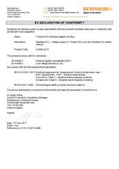 Certificate (CE): Trimble MX2 Interface Adapter (IA) Box ECD-YK2017-002B