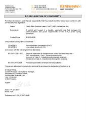 Certificate (CE): C-ALS Mk3 Surface Unit Box ECD-YK2017-004B