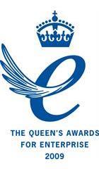 Queen's Award for Enterprise 2009 (blue)