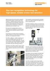 Press release: TRS1 - New tool recognition technology for high-speed, reliable broken tool detection