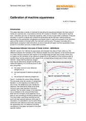 White paper: Calibration of machine squareness