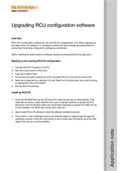 Application note: Upgrading RCU configuration software