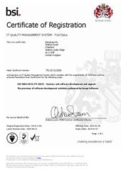 Certificate: BSI Management Systems TickITplus certificate