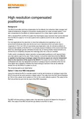 Application note:  High resolution compensated positioning