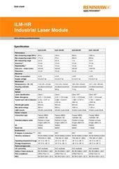 Data Sheet:  Pencil beam Industrial Laser Module (ILM-HR)