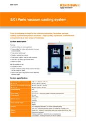 Data sheet:  5/01 Vario vacuum casting machine