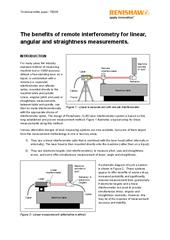 White paper: The benefits of remote interferometery for linear, angular and straightness measurements