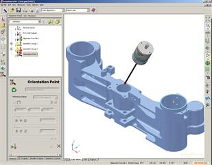 Renishaw OMV probe software (orientation point)