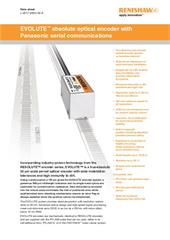 Data sheet:  EVOLUTE™ absolute optical encoder with Panasonic serial communications