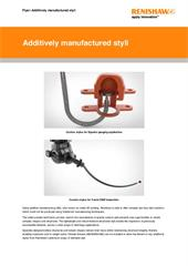 Brochure:  Additively manfactured styli